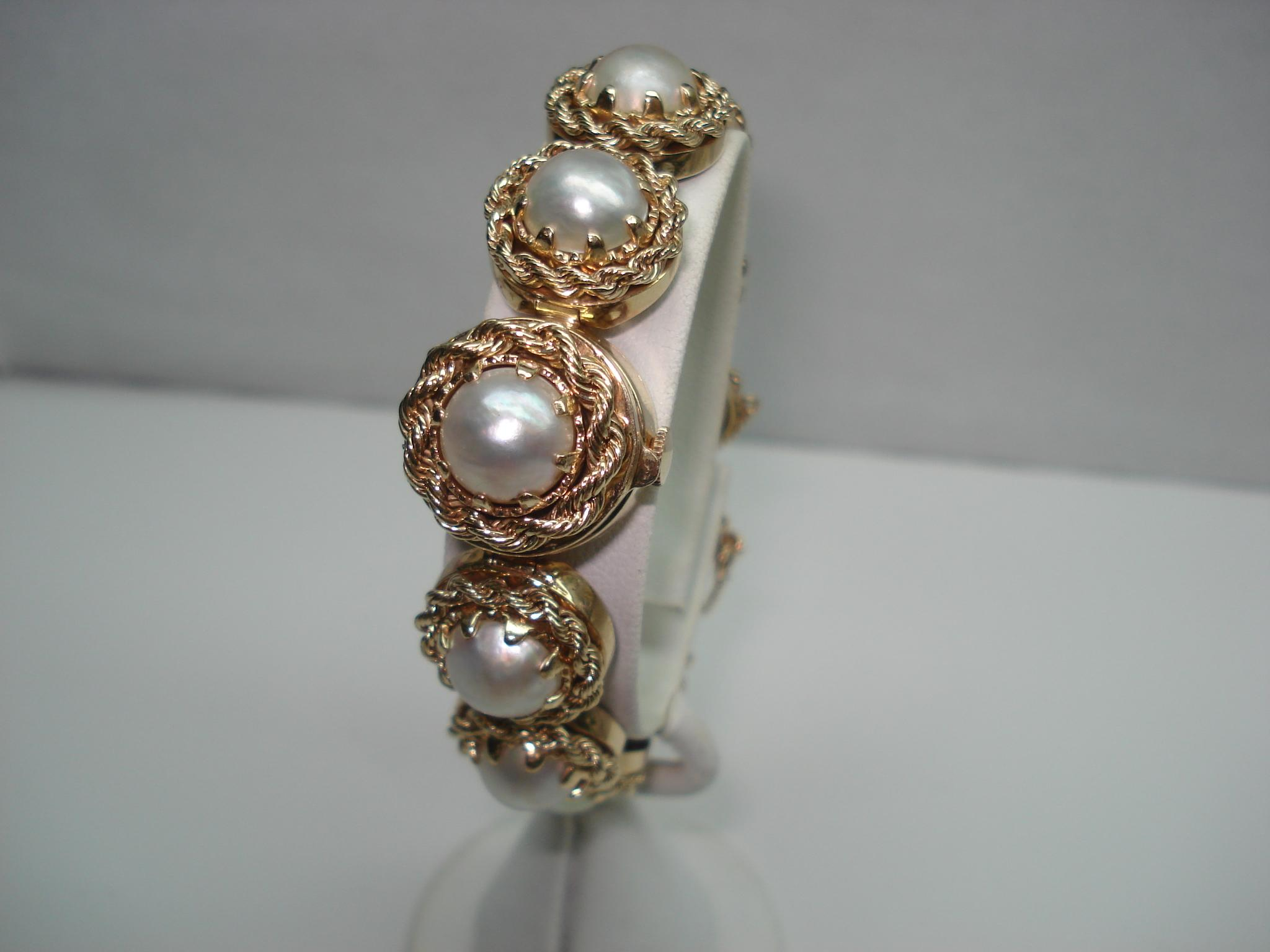 14 kt gold art deco ladies baroque pearl hidden flip top for Deco baroque
