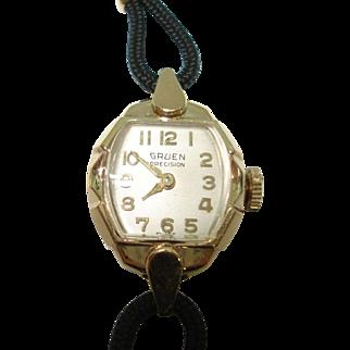 Vintage 14 Kt Yellow Gold Ladies Gruen Wristwatch