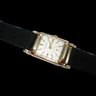 14 Kt Gold Men's Wittnauer Wristwatch Fancy Movable Lugs