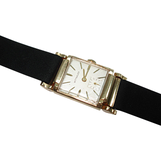 14 Kt Gold Men's Wittnauer Wristwatch Fancy Movable Lugs