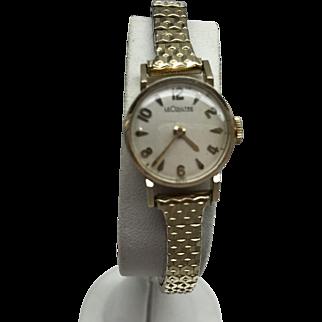 LeCoultre 14 Kt Gold Ladies Vintage Mechanical Wristwatch