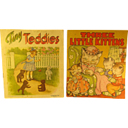 3 Vintage Children's Books, 3 Little Kittens