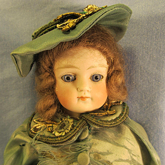 "Beautiful 11""  Antique Bisque Doll ~ Closed Mouth"