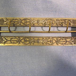 """Antique 5"""" Belt Buckle ~ Unusual, Handmade"""