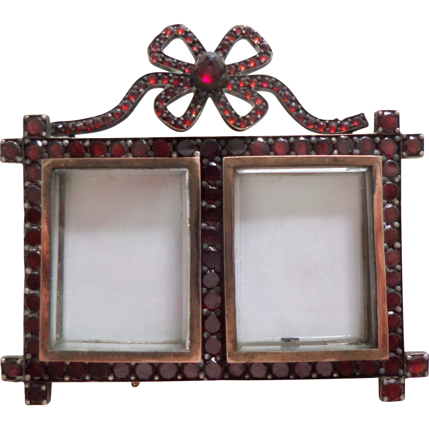 Miniature Garnet Double Photo Frame c1880 : The Lucky Black Cats ...