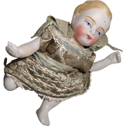 All Bisque Playful Baby German c1900