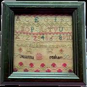 1792 Small Sampler Susanna Resham