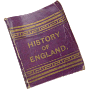 Miniature Book History Of England Goode Bros c1901
