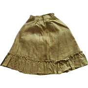 Gold Patterned Walking Skirt For FF Doll - Red Tag Sale Item
