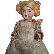 All Bisque German Dolls House Doll c1915