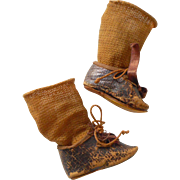 Antique Doll Shoes & Socks c1900