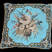Stunning Antique Beadwork Cushion c1890