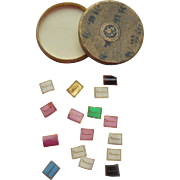 Tiny Antique Name Plates for Books c1870