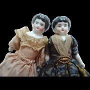 China Dolls For Dolls House c1900