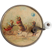 French Musical Box Cat Litho c1910