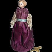 Tiny Automaton Parian Doll c1870