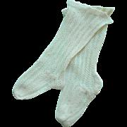 Antique Socks for Jumeau Doll c1900