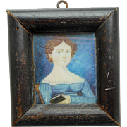 Georgian Portrait Miniature Dolls house Size c1830