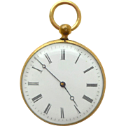French Faux Pocket Watch Souvenir Views Inside c1900