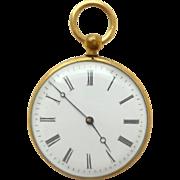 French Faux Pocket Watch Souvenir Views Inside c1900