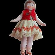 Bisque Flapper Dolls House Doll c1930