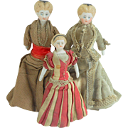 Early Parian Dolls House Family c1885