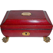 Regency Child's Sewing Box All Original c1820