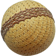 Novelty Dresden Candy Container In Ball Shape c1890