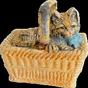 Kitten In A Basket c1930