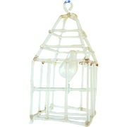 Lovely Old Miniature Glass Birdcage
