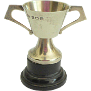 Miniature Sterling Silver Trophy Cup Hallmarked For 1929