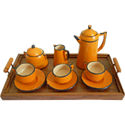 Painted Wooden Coffee Set  For Dolls House