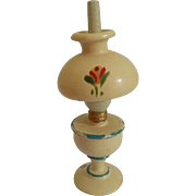 Pretty Wooden Oil Lamp For Doll House