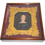 Regency Wax Portrait With Provenance c1815
