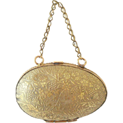 Embossed Gilt Metal Purse c1910