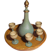 Painted Wooden Liqueur Set For Dolls House