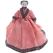 Flat Top China Doll For Dolls House c1890