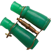 Tiny Emerald Green Binoculars