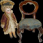 Antique Miniature Balloon Back Chair c1870