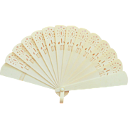 Small Pretty Celluloid Doll fan c1900