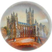 Small Victorian Paperweight Canterbury Cathedral c1890