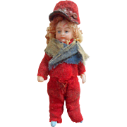 SFBJ All Bisque French Lilliputian Doll c1910