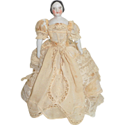 Small Early Pink Tint China Doll c1860