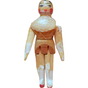 Tiny Peg Wooden Doll For Dolls House c1915
