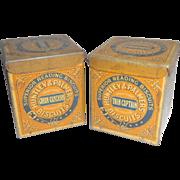 Two Miniature Huntley & Palmer Sample Tins c1930