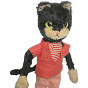Nice Old Schuco Black Wired Cat Doll