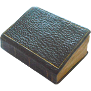 Black & Gilt Miniature Book c1840