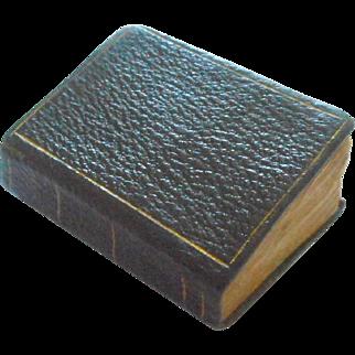Black & Gilt Miniature Book c1840
