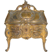Miniature French Gilded Metal Desk c1900
