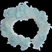 Pretty Aqua Curled Feather Circlet